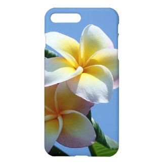 Coque iPhone 8 Plus/7 Plus Fleurs voyantes de Frangipani de Plumeria