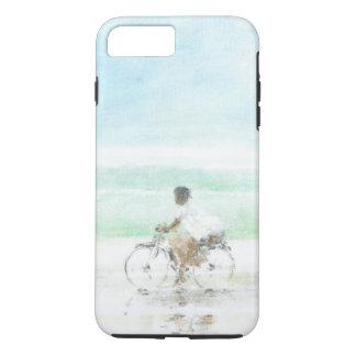 Coque iPhone 8 Plus/7 Plus Garçon sur la bicyclette