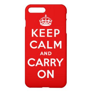 Coque iPhone 8 Plus/7 Plus Gardez le calme et continuez