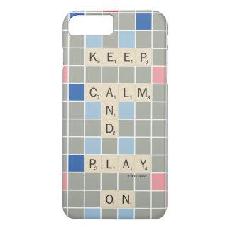 Coque iPhone 8 Plus/7 Plus Gardez le calme et le jeu dessus