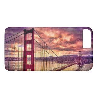 Coque iPhone 8 Plus/7 Plus Golden gate bridge à San Francisco, la Californie