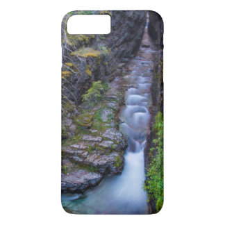 Coque iPhone 8 Plus/7 Plus Gorge de Sunrift en parc national de glacier,