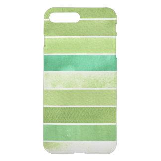 Coque iPhone 8 Plus/7 Plus grand arrière - plan vert d'aquarelle - aquarelle