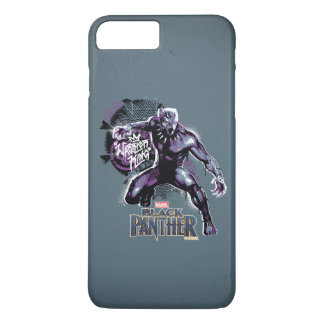 Coque iPhone 8 Plus/7 Plus Graphic de guerrier de la panthère noire | du Roi
