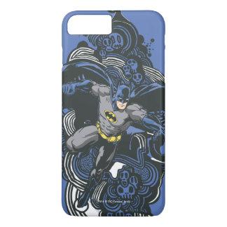 Coque iPhone 8 Plus/7 Plus Griffonnage 2 de crânes/encre de Batman