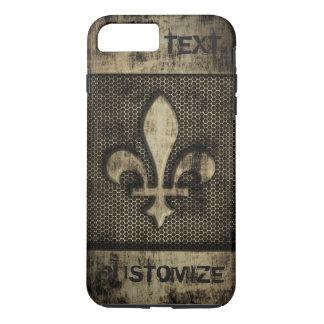 Coque iPhone 8 Plus/7 Plus Grunge Fleur De Lis vintage personnalisée