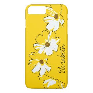 Coque iPhone 8 Plus/7 Plus Guirlande jaune personnalisée