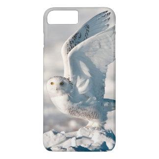 Coque iPhone 8 Plus/7 Plus Hibou de Milou décollant de la neige