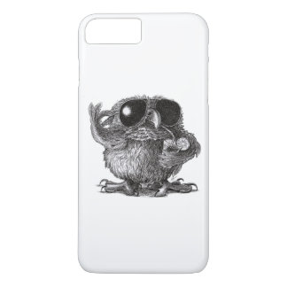 Coque iPhone 8 Plus/7 Plus Hibou drôle de cool d'animal