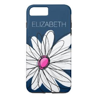 Coque iPhone 8 Plus/7 Plus Illustration florale de marguerite à la mode -