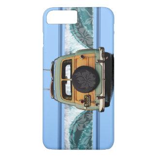 Coque iPhone 8 Plus/7 Plus Illustration hawaïenne de surf de vague de Woody