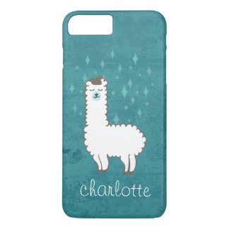 Coque iPhone 8 Plus/7 Plus Illustration lunatique de lama