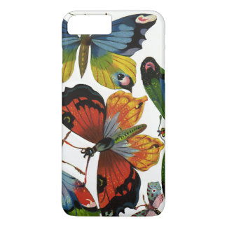 Coque iPhone 8 Plus/7 Plus Insectes vintages ou insectes, beaux papillons