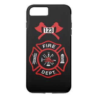 Coque iPhone 8 Plus/7 Plus Insigne de corps de sapeurs-pompiers