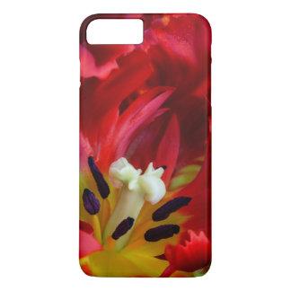 Coque iPhone 8 Plus/7 Plus Intérieur de fleur de tulipe de perroquet
