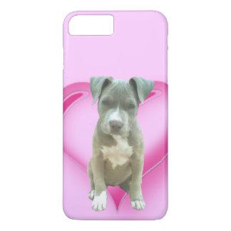 Coque iPhone 8 Plus/7 Plus Iphone bleu de chiot de pitbull 7/8 cas