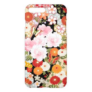 Coque iPhone 8 Plus/7 Plus iPhone intuitif japonais 7 de motif de fleur de