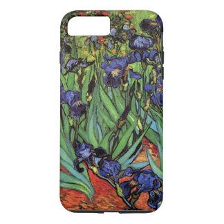 Coque iPhone 8 Plus/7 Plus Iris de Van Gogh, beaux-arts vintages de jardin