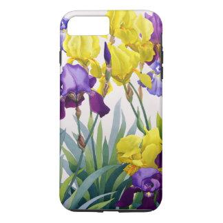 Coque iPhone 8 Plus/7 Plus Iris jaunes et pourpres