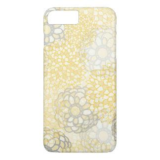 Coque iPhone 8 Plus/7 Plus Jaune et conception d'éclat de fleur d'argile
