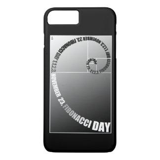 Coque iPhone 8 Plus/7 Plus Jour de Fibonacci, 1,1,2,3, le 23 novembre