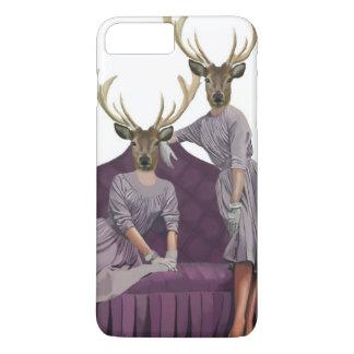 Coque iPhone 8 Plus/7 Plus Jumeaux de cerfs communs dans Dresses.jpg pourpre