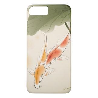 Coque iPhone 8 Plus/7 Plus La carpe japonaise pêche la natation dans l'étang