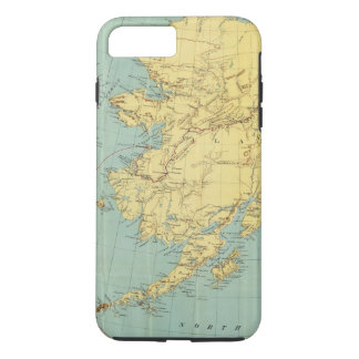 Coque iPhone 8 Plus/7 Plus La carte de McNally de couche-point de l'Alaska