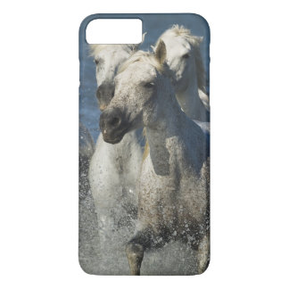 Coque iPhone 8 Plus/7 Plus La France, Camargue. Chevaux courus par l'estuaire