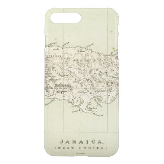 Coque iPhone 8 Plus/7 Plus La Jamaïque a lithographié la carte