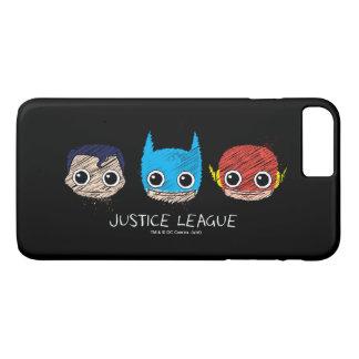Coque iPhone 8 Plus/7 Plus La mini ligue de justice dirige le croquis