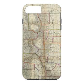 Coque iPhone 8 Plus/7 Plus La nouvelle carte de Thayer de l'état du Colorado
