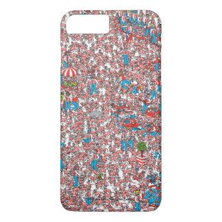 Coque iPhone 8 Plus/7 Plus Là où est la terre de Waldo des trames