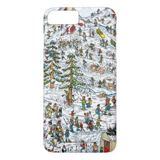 Coque iPhone 8 Plus/7 Plus Là où est le ski de Waldo incline