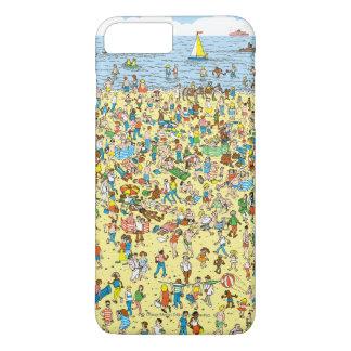 Coque iPhone 8 Plus/7 Plus Là où est Waldo sur la plage