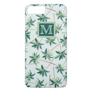 Coque iPhone 8 Plus/7 Plus La paume tropicale   de vulpin ajoutent votre