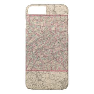 Coque iPhone 8 Plus/7 Plus La Pennsylvanie et New Jersey 2
