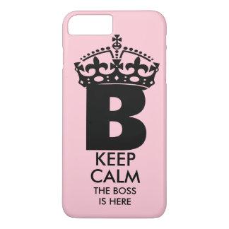Coque iPhone 8 Plus/7 Plus La Reine B gardent le calme