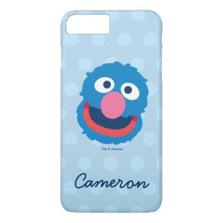 Coque iPhone 8 Plus/7 Plus La tête de Grover | ajoutent votre nom
