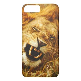 Coque iPhone 8 Plus/7 Plus L'Afrique, Kenya, Maasai Mara. Lion masculin.