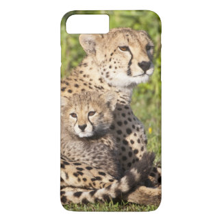 Coque iPhone 8 Plus/7 Plus L'Afrique. La Tanzanie. Mère et petits animaux 2