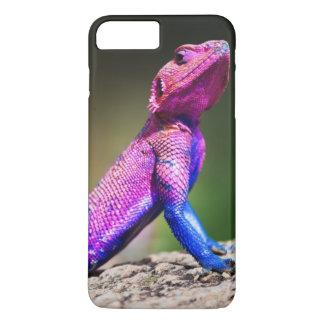 Coque iPhone 8 Plus/7 Plus L'agame à tête plate de Mwanza sur la roche