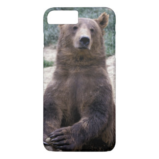Coque iPhone 8 Plus/7 Plus L'Alaska, Ursus du sud-est d'ours de Brown de