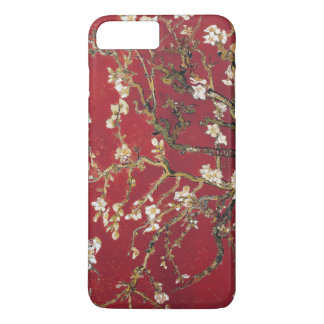 Coque iPhone 8 Plus/7 Plus L'amande fleurit peinture rouge d'art de Vincent