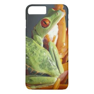 Coque iPhone 8 Plus/7 Plus L'Amérique du Sud. Grenouille d'arbre aux yeux