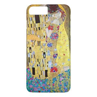 Coque iPhone 8 Plus/7 Plus Le baiser par Gustav Klimt, art vintage Nouveau