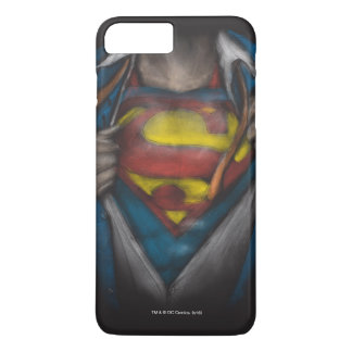 Coque iPhone 8 Plus/7 Plus Le coffre de Superman   indiquent le croquis