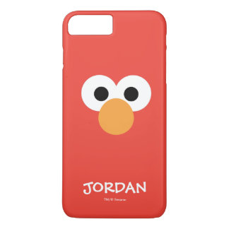 Coque iPhone 8 Plus/7 Plus Le grand visage | d'Elmo ajoutent votre nom