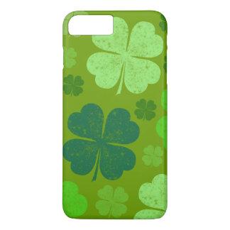 Coque iPhone 8 Plus/7 Plus Le jour de Patrick de saint, trèfles chanceux -