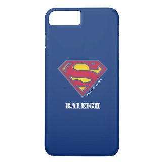 Coque iPhone 8 Plus/7 Plus Le logo   de point du S-Bouclier   de Superman